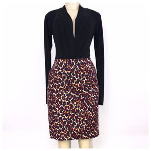 Leopard Print Pencil Skirt Size 4